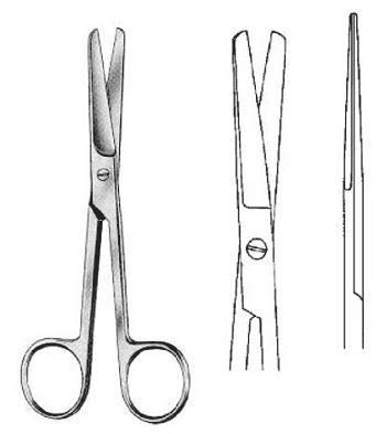 ножницы с тупыми концами прямые фото 5