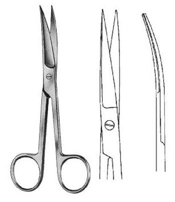ножницы остроконечные изогнутые 115 мм фото 5