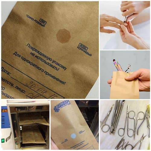 крафт пакети для стерилізації інструментів 100х200мм, 100 шт. фото 5