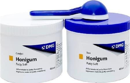 honigum pro putty soft dmg оттискная масса а-силикон, 450 мл+450 мл фото 5