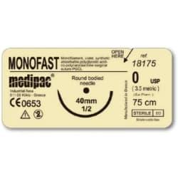 Шовный материал МОНОФАСТ (MONOFAST), рассасывающийся, монофиламентный, обратно-режущая игла
