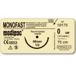 Шовный материал МОНОФАСТ (MONOFAST), рассасывающийся, монофиламентный, колющая игла