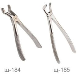Щипцы для удаления третьих моляров верхней и нижней челюсти, Щ-184, Щ-185