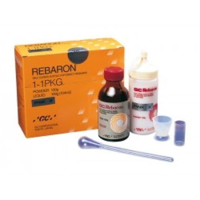 REBARON, пластмасса для перебазировки протезов, 100 г + 104 мл
